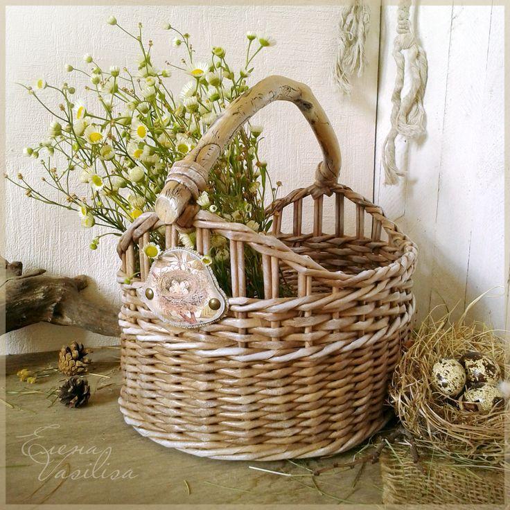 paper wicker basket.