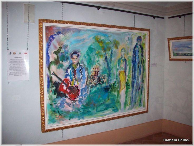 """Ernesto Treccani """"Concerto Estivo"""", al Museo """"Giuseppe e Titina dal Verme"""" del Castello di Zavattarello."""