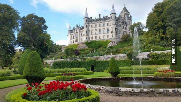 Fairy tale castles actually exist. This is Dunrobin castle in Scotland.