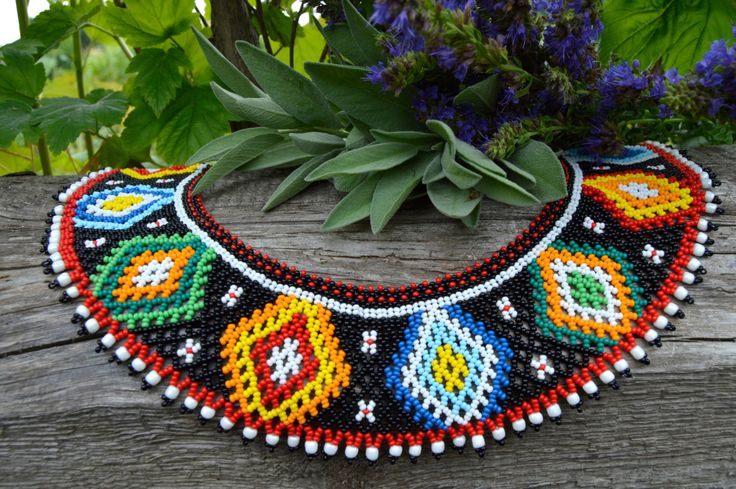 Bead Necklace Jewelry Traditional Ukrainian by NakaHandMadeShop