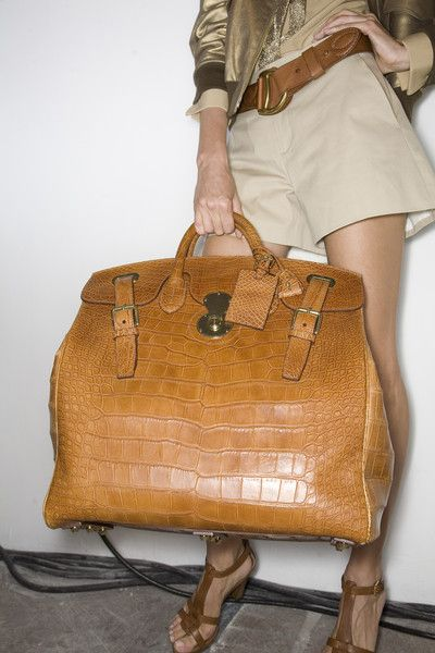 I love this bag so much!!  - (Ralph Lauren) #fashion #handbags - hope it's faux, but it's hot nonetheless