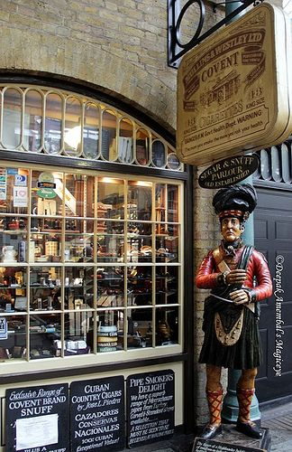 Tobacconist in Covent Garden, London.  ASPEN CREEK TRAVEL - karen@aspencreektravel.com