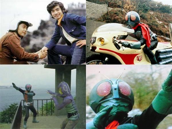仮面ライダー 1971年から放映された特撮ヒーロー番組。本郷猛役:藤岡弘。