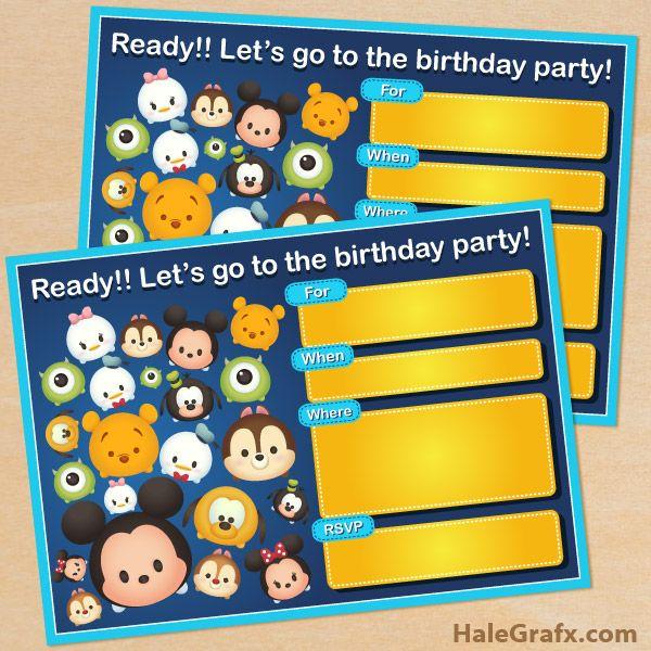 139 best Disney images – Printable Disney Birthday Invitations