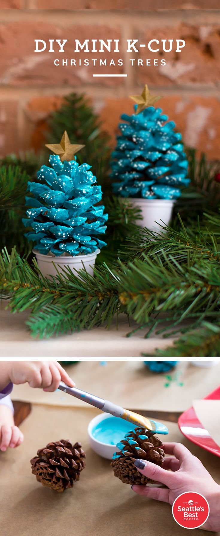 Here's a festive way to reuse your K-Cup pods after enjoying a smooth cup of Seattle's Best Coffee! This is a kid-friendly DIY craft that you can customize any way you would like.