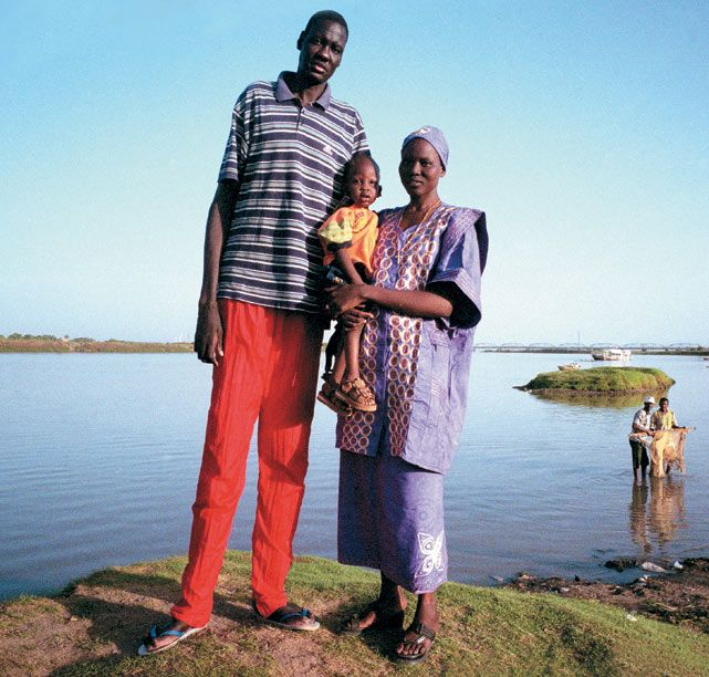 Manute Bol, NBA player and humanitarian, who used most of his NBA earning to improve conditions for people in his native Sudan.
