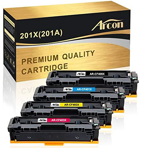 2pk CF400X 201X Black Toner Cartridge Fit HP Laserjet M252dw M277dw M277n CF400A