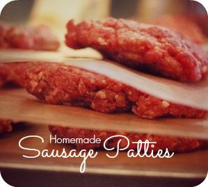 Simple homemade Sausage Patties. You won't believe how easy it can be ...