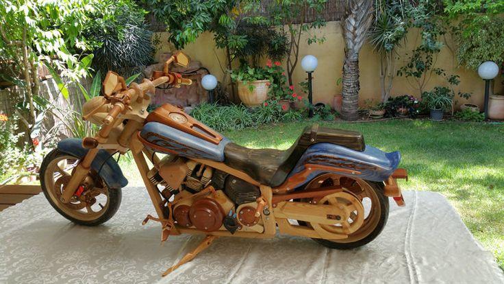 Motorbike Yamaha cruiser 1900 made of recycled wood - by Moshe Almog @ LumberJocks.com ~ woodworking community