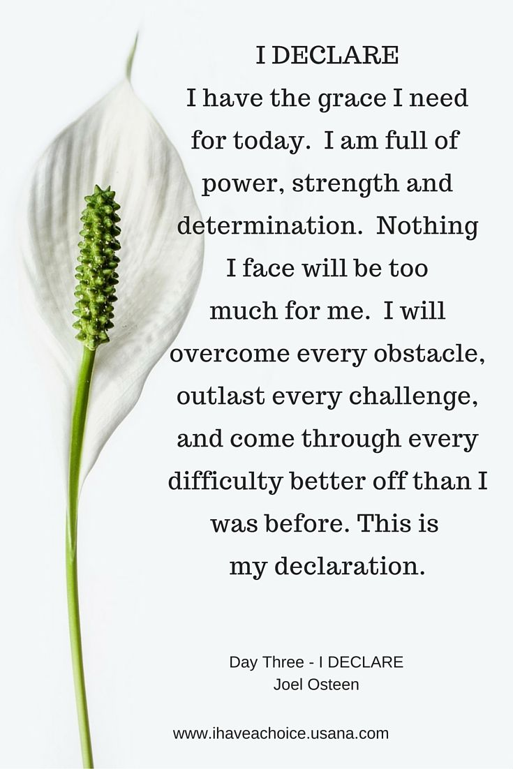 Day 3 I Declare by Joel Osteen 31 Promises to Speak over your life.