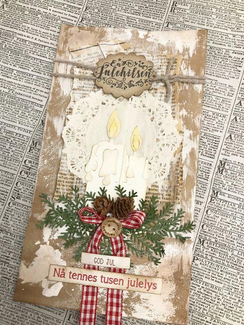 Julekort med julelys - Hilde Røisehagen - Stempelglede :: Design Team Blog
