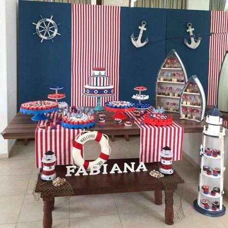 Aluguel Decoração - Festa  Marinheiro + Bolo