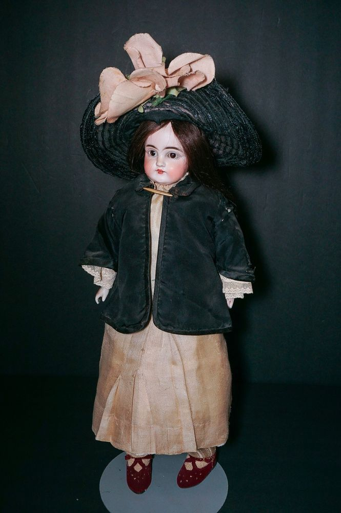 "Antique German Kestner 154 Bisque Doll 19""-20"""
