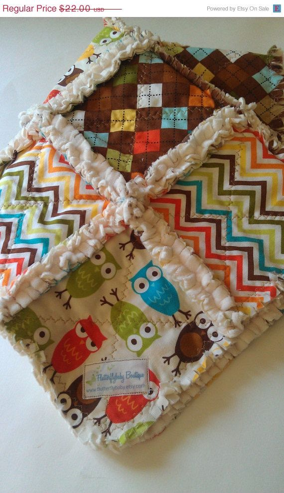Rag Quilt Baby Girl Verna Kate Spain Moda Minky by flutterflybaby LOVE this fabric combo