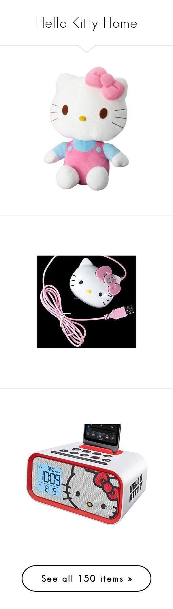 """""""Hello Kitty Home"""" by lindaweldon ❤ liked on Polyvore featuring home, kitchen & dining, small appliances, bed & bath, bath, bath accessories, food storage containers, beauty products, beauty accessories and bags & cases"""
