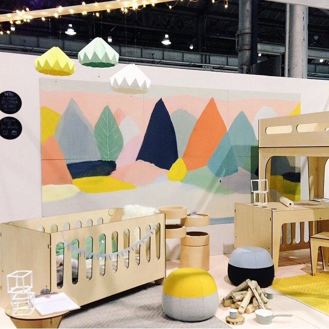 Styling: Jessica Hanson Puku ottomans at Plyroom's One Fine Baby stand in Sydney