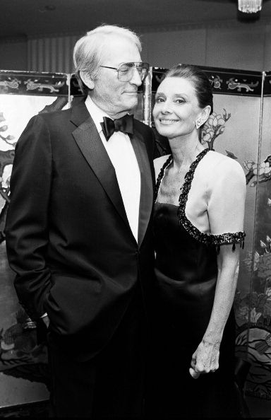 Audrey Hepburn and Gregory Peck at the 1st Annual Lighthouse for the Blind, Winternight Awards Gala, November 30, 1988