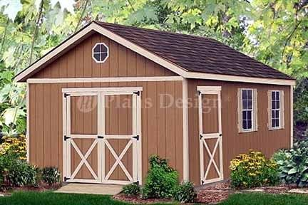 20 x 12 Yard Storage Building Gable Shed Plans 22012