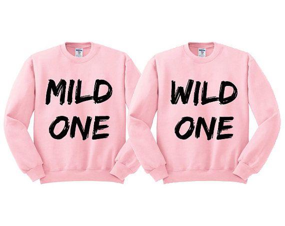 Pink Crewneck MARKER Mild One Wild One Best Friends