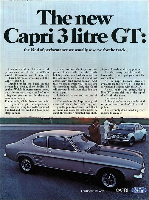 Ford 1969 - oh alright, the V6 Mk1 one, yes, yes, do kinda like them. Dammit.