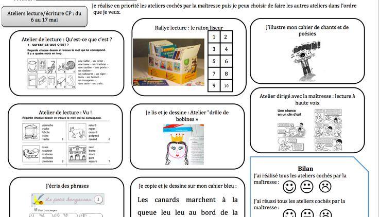 Ateliers de lecture-écriture et plan de travail - La classe de Frisettes