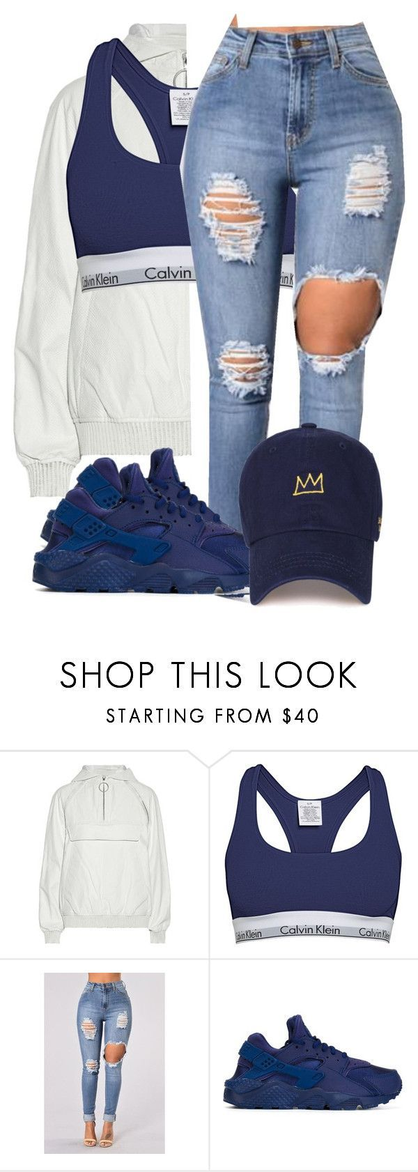 """""""Untitled #616"""" by ramenmatty ❤ liked on Polyvore featuring Alexander Wang, Calvin Klein and NIKE – Liya🌹"""