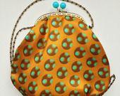 borsa pochette in stile vintage - seta senape anni '70 : Borsette di le-t
