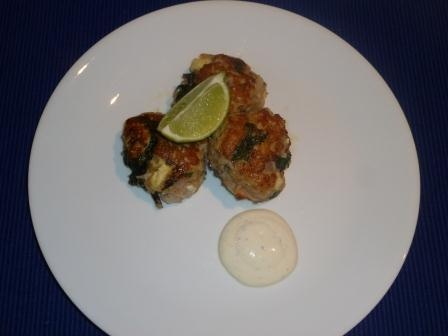 Donna Hay's Chicken and Spinach patties