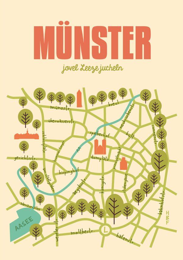 City Poster - Münster by Christina Pohler, via Behance