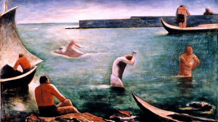 Carlo Carrà nuotatori