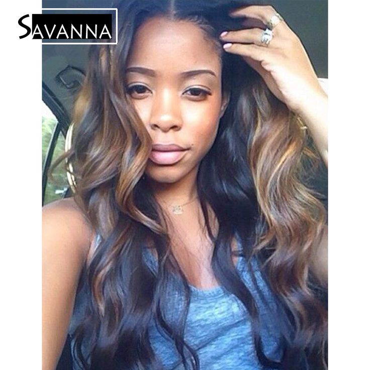 Best 25 highlights on african american hair ideas on pinterest brazilian hair body wave full lace human hair wigs ombre highlight human hair lace front wig black women with baby hair pmusecretfo Images