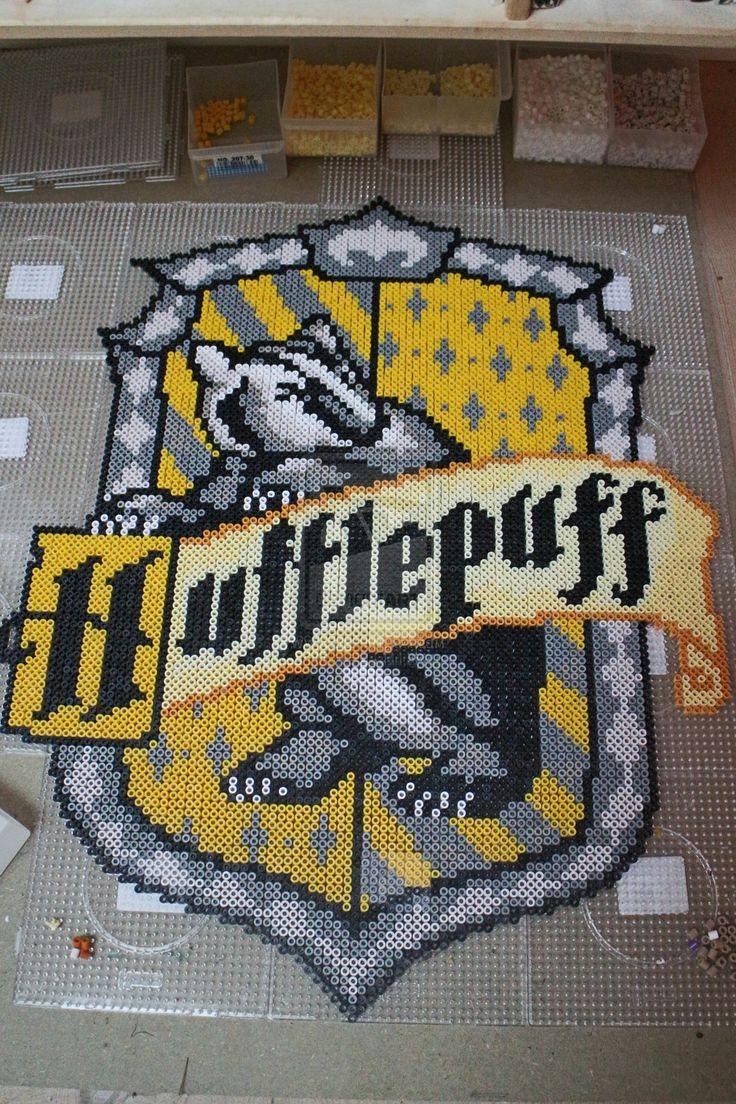 Hufflepuff House emblem - Harry Potter perler beads by mininete on deviantART