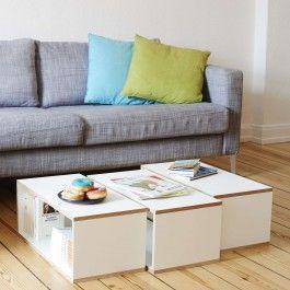 Unser Design Couchtisch - klassisch, geradlinig und stylisch. Der Design Couchtisch besteht aus 3 Elementen. Ist dir das zu viel oder zu wenig, dann gestalte dein individuelles Design Möbelstück mit Boxen von bSquary.Weiss passt nicht in deine Wohnlandschaft