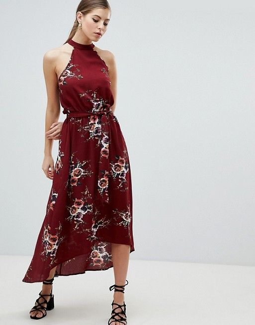 3f0218fa4302 AX Paris High Neck Belted Floral Maxi Dress in 2019 | Dresses ...