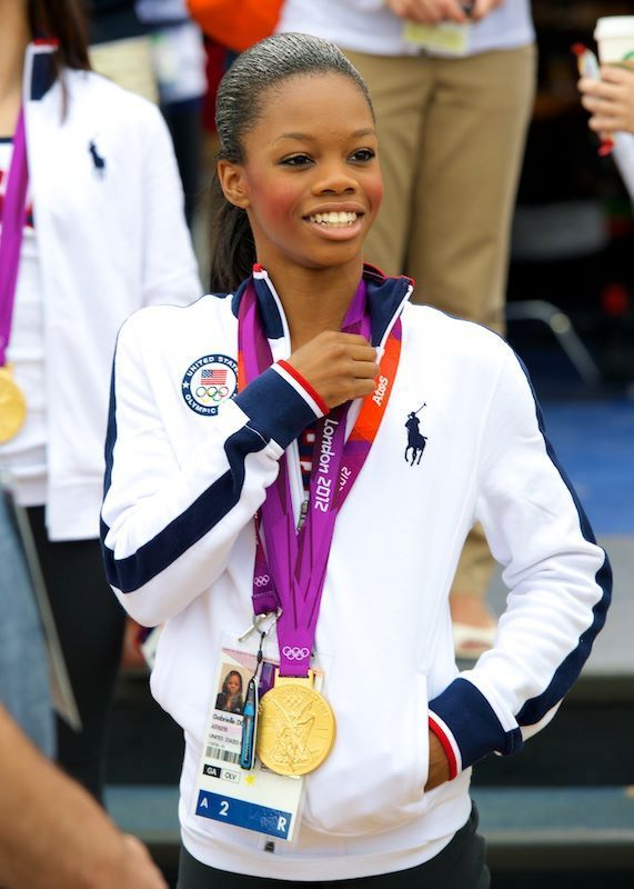 """Gabrielle """"Gabby"""" Douglas won the GOLD MEDAL ranking her the #1 All Around World Olympic gymnast. She is the 1st African-American female to accomplish this dream. Proved to be the best in her sport - she maintained the lead throughout the competition for the United States Olympic Gymnastic Team."""