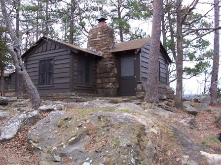 Robbers Cave State Park in Wilburton, OK sounds like a great place to stay in a  cabin.