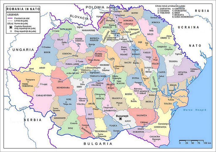 Romania Mare Harta Map Great Romania in NATO OTAN
