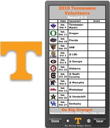 tennessee vols football schedule - Google Search