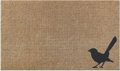 willy wag tail coir doormat designer thick gift idea sweet natural black