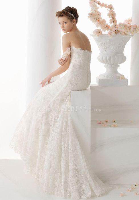 Retro Mermaid High Neck Lace Natural Waist Floor Length Wedding Dress