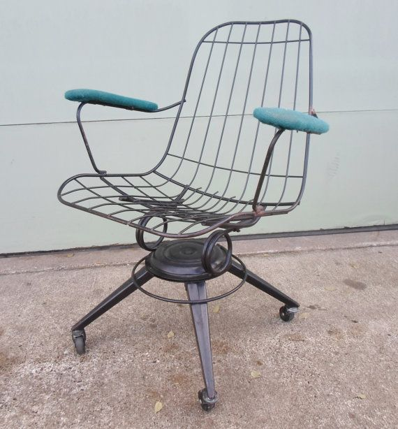1960 39 S Homecrest Eames Era Metal Wire Chair Black Office Chair Ca