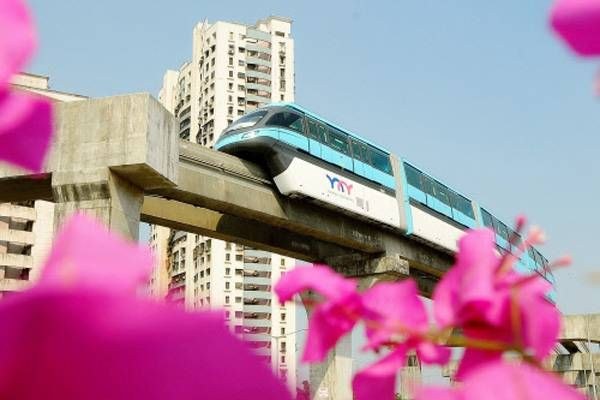 Nation's first monorail to zip through skies in Mumbai on Sunday - Times Of India