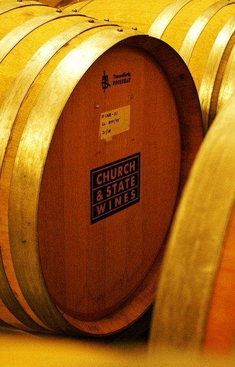 Casks at the ready at Church and State winery