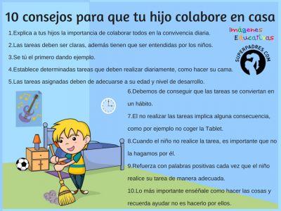 Si los niños ayudan en la casa se comparten las labores en la familia y aprenden a ser responsables