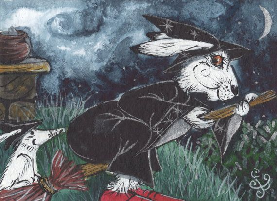 A4 Archival Print  Night Ride  Arctic Hare by JacquiLoveseyArt
