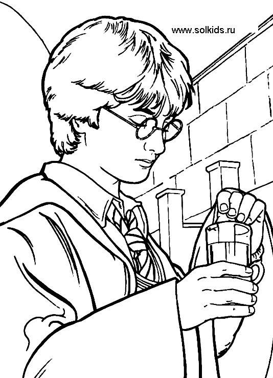 Раскраска Гари Поттер онлайн скачать | Гарри поттер ...