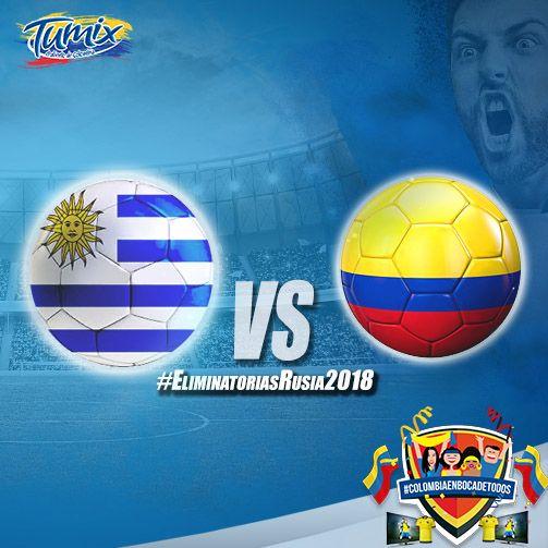 ¡Fuerza mi selección! #Colombia #Fútbol #Uruguay #Eliminatorias #Rusia2018