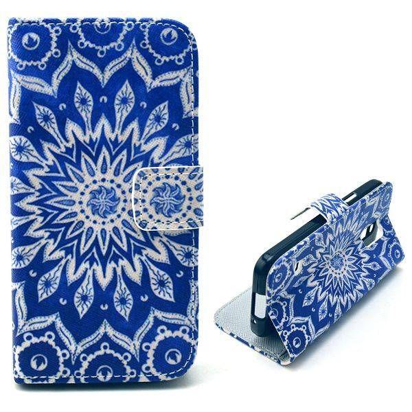 Mandala bloem bookcase voor Samsung Galaxy S5 mini