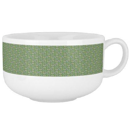 Multicolored examined soup mug - home gifts ideas decor special unique custom individual customized individualized