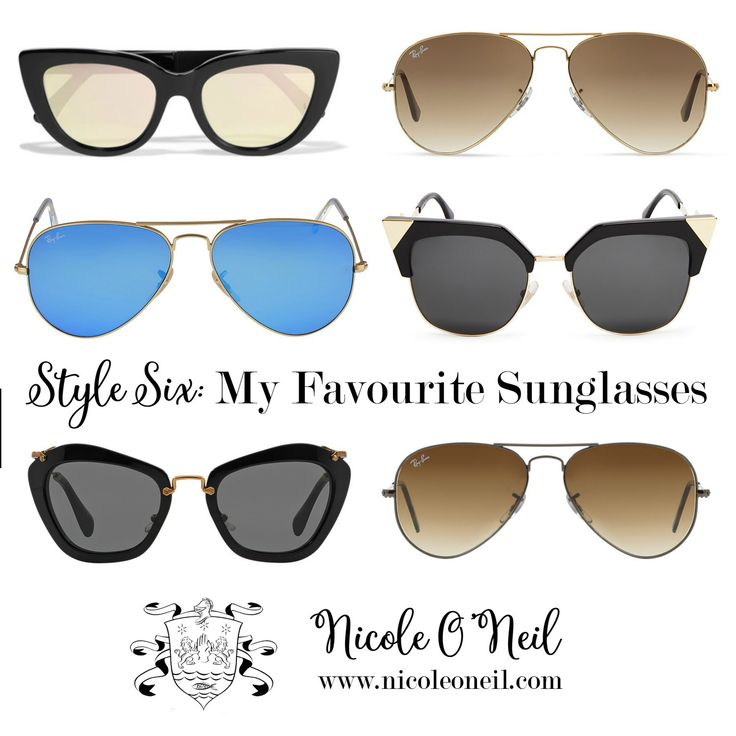 """The Real Housewives of Sydney's Nicole O'Neil shares her Top Six Favourite Sunglasses Styles with both """"splurge"""" and """"save"""" options to help you find your perfect pair - regardless of budget!"""